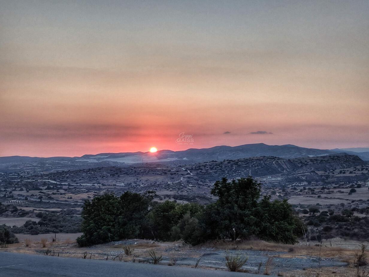 Zypern Sonnenuntergang Unterstützung Oktober