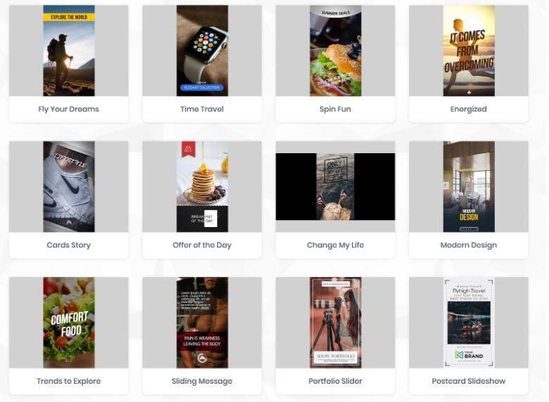 Storymate Übersicht Templates